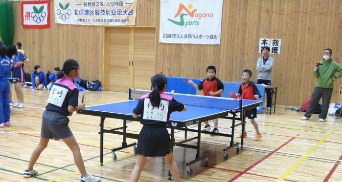 平成29年度長野県スポーツ少年団北信地区競技別交流大会卓球競技
