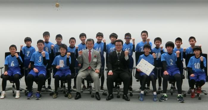 春の全国小学生ドッジボール選手権大会出場 表敬訪問